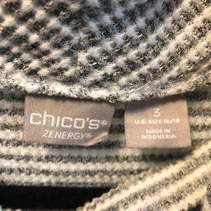 Chico's Sweaters - Chico's Size 3 grey&white draped cardigan w/ tank